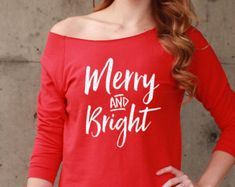 Merry And Bright Shirt, Christmas shirt, Christmas gift, Holiday Sweater, Ugly Sweater, Christmas Shirts for Women, Christmas Sweater