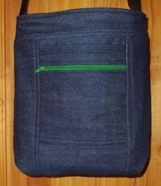 Small Cross Body Bag made from recycled denim. Sewing To Sell, Recycled Denim, Small Crossbody Bag, Custom Bags, Messenger Bags, Zipper Pouch, Pouches, Bag Making, Cross Body
