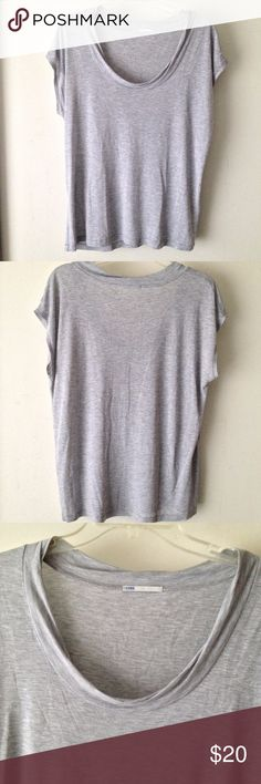 Closed Scoopneck Lyocell T-shirt Closed Scoopneck Lyocell T-shirt Condition: Good - some bleach stains (hard to see unless you look really really close, easier to see when shirt is wet)  Color: Gray Size: XL  100% Lyocell Closed Tops Tees - Short Sleeve