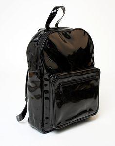 http://www.motelrocks.com/shop/products/Motel-Schoolbag-Rucksack-in-Black-Patent.html Color: Black