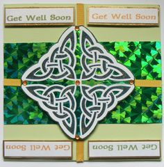Handmade Celtic Card. Get Well Soon