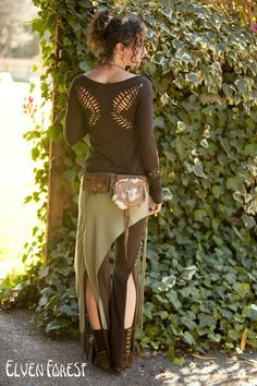 Tassel Lace Up Dance Pants in Brown you choose by ElvenForest, $84.00