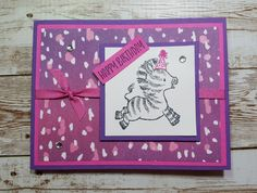 """Visit my YouTube Channel """"Donnas Creative Space"""" for a video tutorial! Zebras, Stampin Up, Channel, Happy Birthday, Paper Crafts, Space, Creative, Youtube, Cards"""