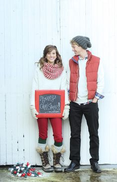 Sarah can i borrow your chalk board....with Merry Chriatmas our new address on in front of door