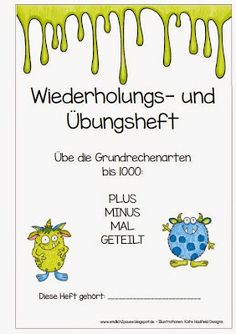 """Kleines Übungs""""heft"""" Learning Letters, Kids Learning, Second Grade Math, Math For Kids, Primary School, Teaching Math, Maths, Math Activities, School Days"""