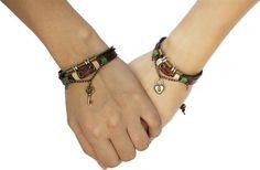 Emma His /& Hers Lock and Key Couple Bracelet Lovers Bracelets Adjustable For Girlfriend Boyfriend Chain Bangle