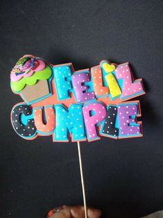 Diy Cake Topper, Birthday Cake Toppers, Cupcake Toppers, Foam Crafts, Diy And Crafts, Quilling Letters, Birthday Cheers, Pin On, Mickey Mouse Birthday