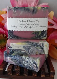 PURE SEDUCTION Scented Moisturizing Handmade body soap. Handcrafted using the cold process method with Goats Milk, Buttermilk, Honey & Silk by SudsNScentsCo on Etsy
