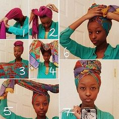 Turban Headband Natural Hair Inspiration, Natural Hair Tips, Natural Hair Styles, Natural Girls, Tie A Turban, Turban Style, Pelo Afro, African Head Wraps, Bad Hair Day