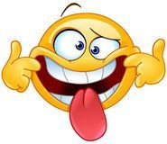 Making a face emoticon. Emoticon making a funny face Royalty Free Stock Images Animated Smiley Faces, Emoticon Faces, Funny Emoji Faces, Animated Emoticons, Funny Emoticons, Smiley Emoji, Images Emoji, Emoji Pictures, Funny Pictures