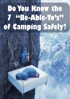 Check out the 7 things you need to be able to do for a safe camping trip. http://getnorthbound.com/pages/the-7-be-able-tos-of-camping-safely?utm_source=Pinterest&utm_medium=Ads&utm_term=camping%20safety%20tips&utm_content=7%20be%20able%20tos&utm_campaign=Seven%20Be%20Able%20Tos