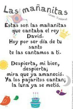 Happy birthday song in Spanish is Las mañanitas. An explanation of the significance of the lyrics and free printable lyric sheets with 2 designs. Spanish Birthday Wishes, Birthday Wishes For Him, Birthday Quotes For Best Friend, Birthday Songs, Happy Birthday Quotes, Birthday Messages, Best Friend Quotes, Happy Birthday Cards, Birthday Greetings