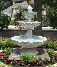 Concrete fountains and water features. Concrete fountains and water features. Backyard Water Fountains, Landscaping With Fountains, Concrete Fountains, Garden Water Fountains, Small Fountains, Outdoor Landscaping, Front Yard Landscaping, Outdoor Fountains, Landscaping Design