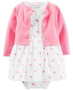 Carter's Baby Girls' 2-Piece Cardigan & Dress Set - Kids Baby Girl (0-24 months) - Macy's