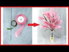 Qq. Handmade - Hướng dẫn làm bông cỏ lau từ ruy băng || How to make reeds with the ribbon - YouTube