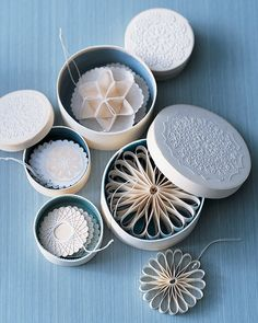old fashioned paper ornaments