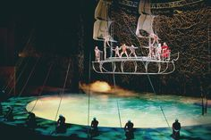"""The Aerial acrobatic Bateau act from """"O"""""""
