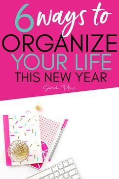 Looking for ways to start the new year off right and be organized? Check out these 6 Ways to organize your life in the new year. These tips will help you organize your home, your time, your meals, and your budget! Learn how to be more organized this year! #organizing #organizingtips #organizinghacks #organizingyourlife #organizingideas #newyearsresolution