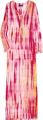 ShopStyle: Antik Batik Naolie Djellabah tie-dye silk maxi kaftan