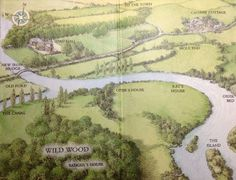 Kenneth Grahame's Wild Wood (Wind in the Willows,  map by Inga Moore)