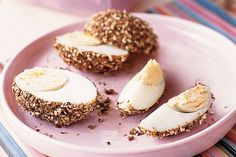 Coated with dukkah, these eggs are guaranteed to spice up your breakfast.