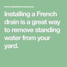 Do it yourself french drain under 6000 youtube projects do it yourself french drain under 6000 youtube projects ideas pinterest french drain drainage solutions and yard drain solutioingenieria Images