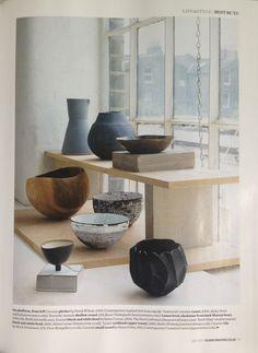 Elle Decoration Magazine. No251. July 2013. Various Ceramic Vessels.