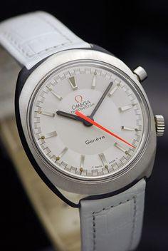 1968 Omega Chronostop Geneve White