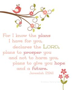 God's hope-filled plans, Jeremiah 29:11