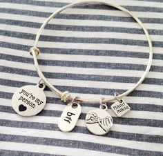 You're My Person Pinky Promise Friendship Bracelet by PinkTwig