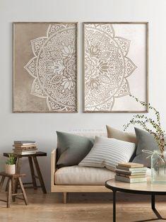 Wall Art Sets, Large Wall Art, Wall Decor Set, Colorful Wall Art, Cheap Wall Decor, Diy Wall, Boho Living Room, Living Room Decor, Taupe Living Room