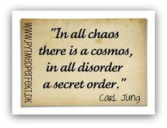 In all chaos there is a cosmos, in all disorder a secret order.  http://www.pytmedperfekt.dk/