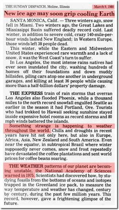 1980 : New Ice Age May Soon Grip Cooling Earth