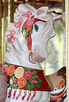 Carousel - White horse