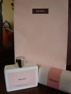 My hands smell like Prada