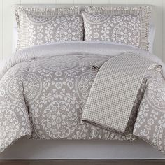 Home Expressions Huntington Midweight Reversible Comforter Set, Color: Multi - JCPenney French Country Bedding, Bohemian Bedding, Intelligent Design, Bed Sizes, Comforter Sets, Decor Styles, Comforters, Bed Pillows, Room Decor