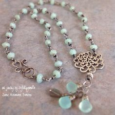 'Chrysanthemum For A Long Life' Necklace By JoyfulRagamuffin