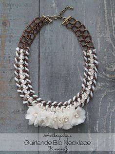 Anthropologie guirlande bib necklace  jewelry diy diy ideas diy crafts do it yourself crafty diy jewelry diy pictures bib necklace anthropologie