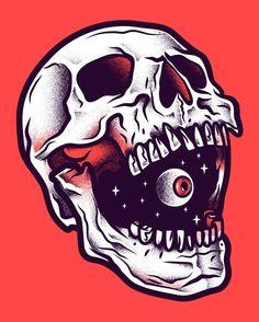 Spring Fest 2016 poster via Behance: Manuel Cetina Arte Punk, Pop Art, Skull Artwork, Skull Drawings, Skull Illustration, Skeleton Art, Desenho Tattoo, Arte Horror, Horror Art