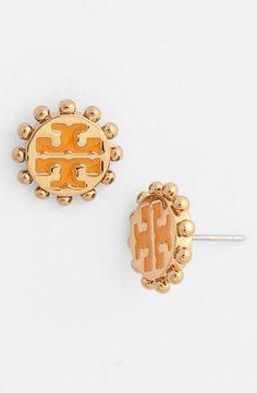 Tory Burch 'Winslow' Logo Stud Earrings