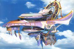Week 10 - Final Fantasy X - Concept Art Mon - Fahrenheit Airship