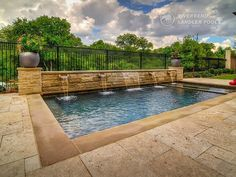 Riverbend Sandler Pools offers Geometric Pool Designs Dallas, Frisco and surrounding areas that homeowners can be proud of. Desert Backyard, Backyard Pool Landscaping, Backyard Pool Designs, Swimming Pools Backyard, Swimming Pool Designs, Backyard Ideas, Landscaping Ideas, Pools For Small Yards, Small Inground Pool