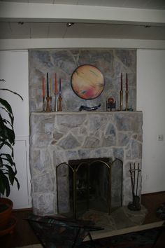 Has tips/directions for how to paint a stone fireplace.  From:  Painters and Decorators: Paint an Ugly Fireplace