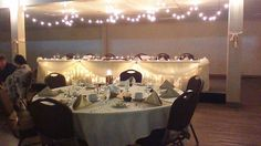 TransCanada Centre - love the twinkling lights Sister Wedding, Our Wedding, Wedding Venues, Wedding Ideas, Twinkle Lights, Centre, Maine, Table Decorations, Home Decor