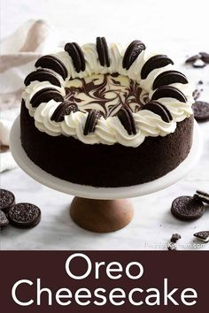 Oreo Cheesecake Recipes, Best Cheesecake, Chocolate Cheesecake, Chocolate Ganache, Chocolate Recipes, Chocolate Cookies, Oreo Cheesecake Cupcakes, Cookies And Cream Cheesecake, Cheesecake Bites