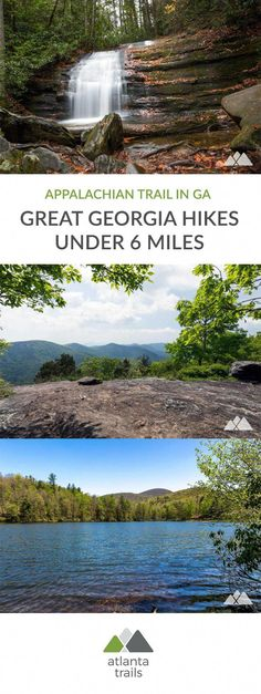 Hike these classic Georgia Appalachian Trail hikes to stunning summit views, a gorgeous waterfall and through beautiful North Georgia forest. All under six miles, they're a great intro to Georgia's stretch of the epic-length AT. Camping In Texas, Camping Spots, Camping And Hiking, Hiking Trails, Hiking Places, Backpacking Tips, Hiking Gear, Appalachian Trail Georgia, Hiking In Georgia
