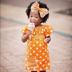 Orange! Baby! Ice cream!