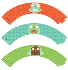 FREE OWL CUPCAKE WRAPPERS