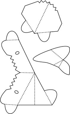 free downloadable pop ups to make...this one is a shark