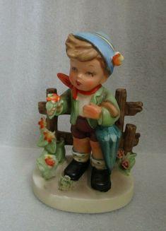 Vintage Little Boy with Trumpet Figurine 4 Tall Porcelain KL JAPAN CL31-10